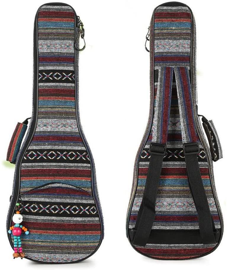HOT SEAL 10MM Adjustable & Comfortable Durable Ethnic Ukulele Case Bag Bohemia style (23/24in, Bohemia NO.3)