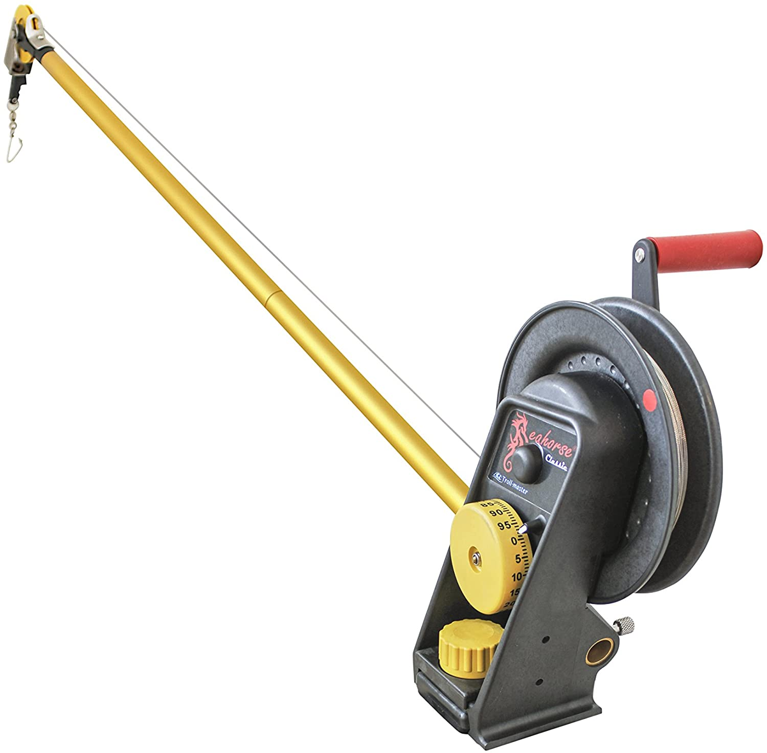 Seahorse Manual Downrigger with Extended Boom by Troll-Master
