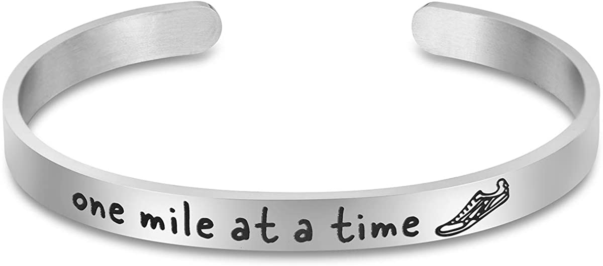 One Mile At A Time Bracelet Marathon Runners Gfts for Women
