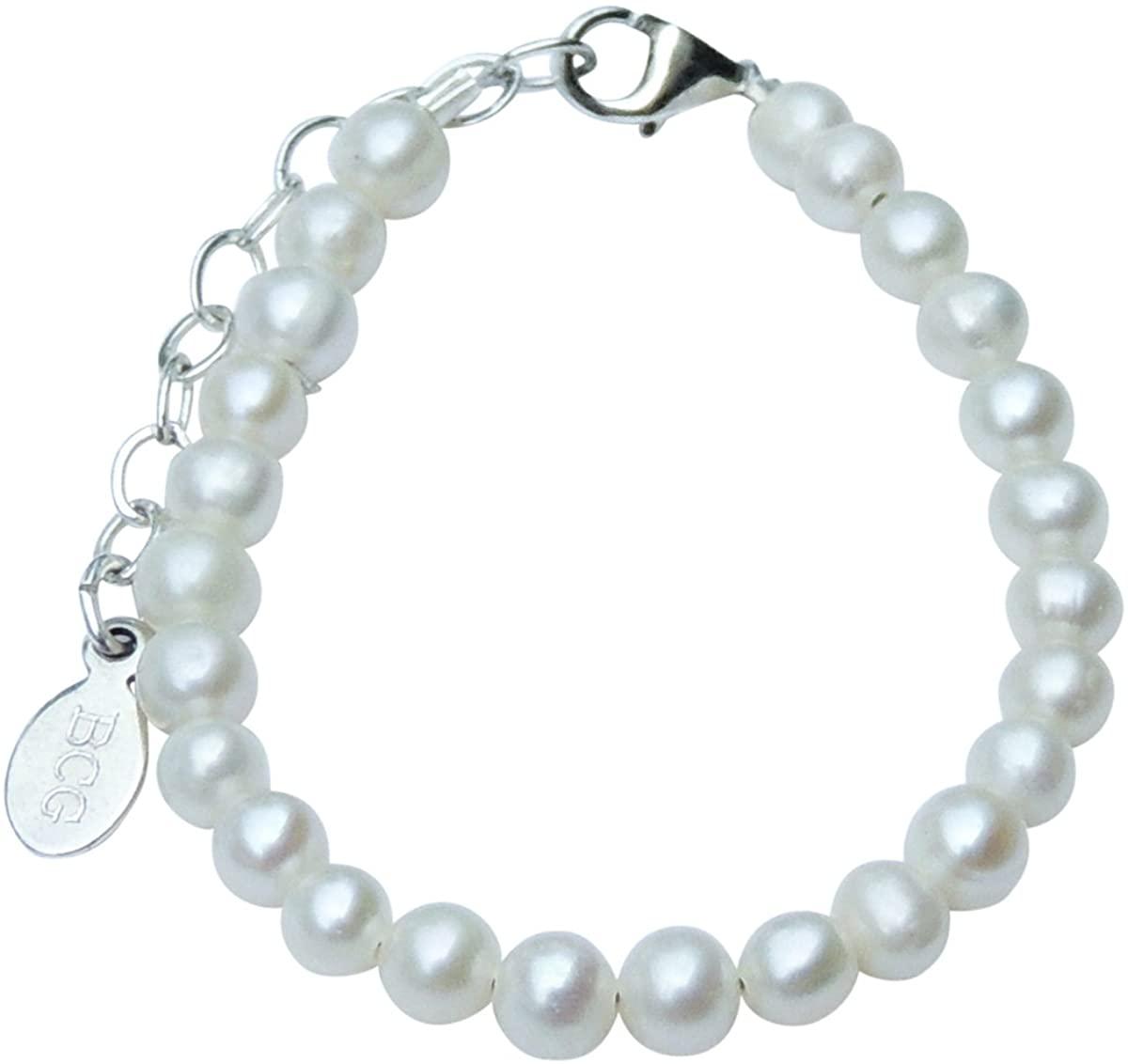 Beloved Child Goods Tiny Cultured Freshwater Pearl & Sterling Silver Bracelet for Babies