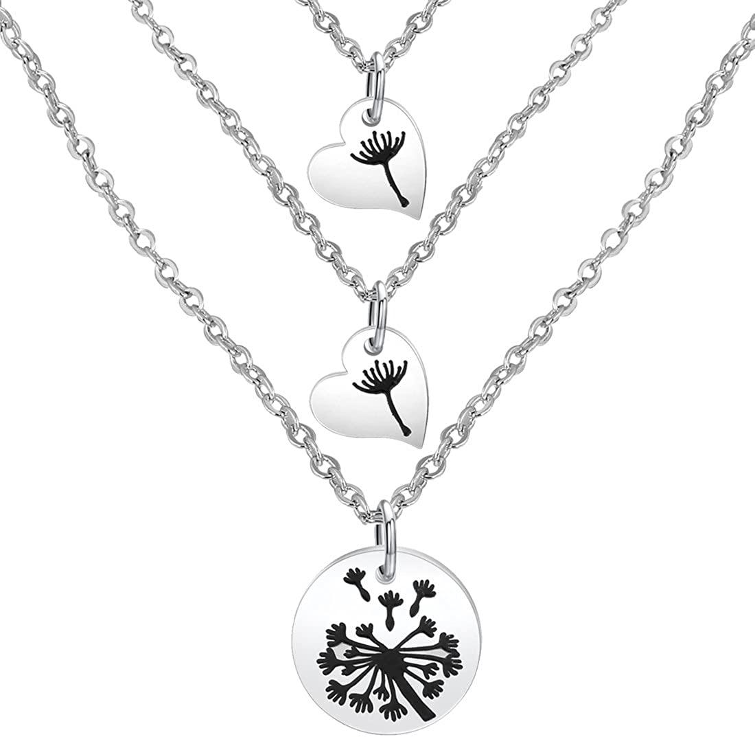 Zuo Bao Dandelion Mother Daughter Necklace Set Mother Daughter Jewelry Dandelion Necklace