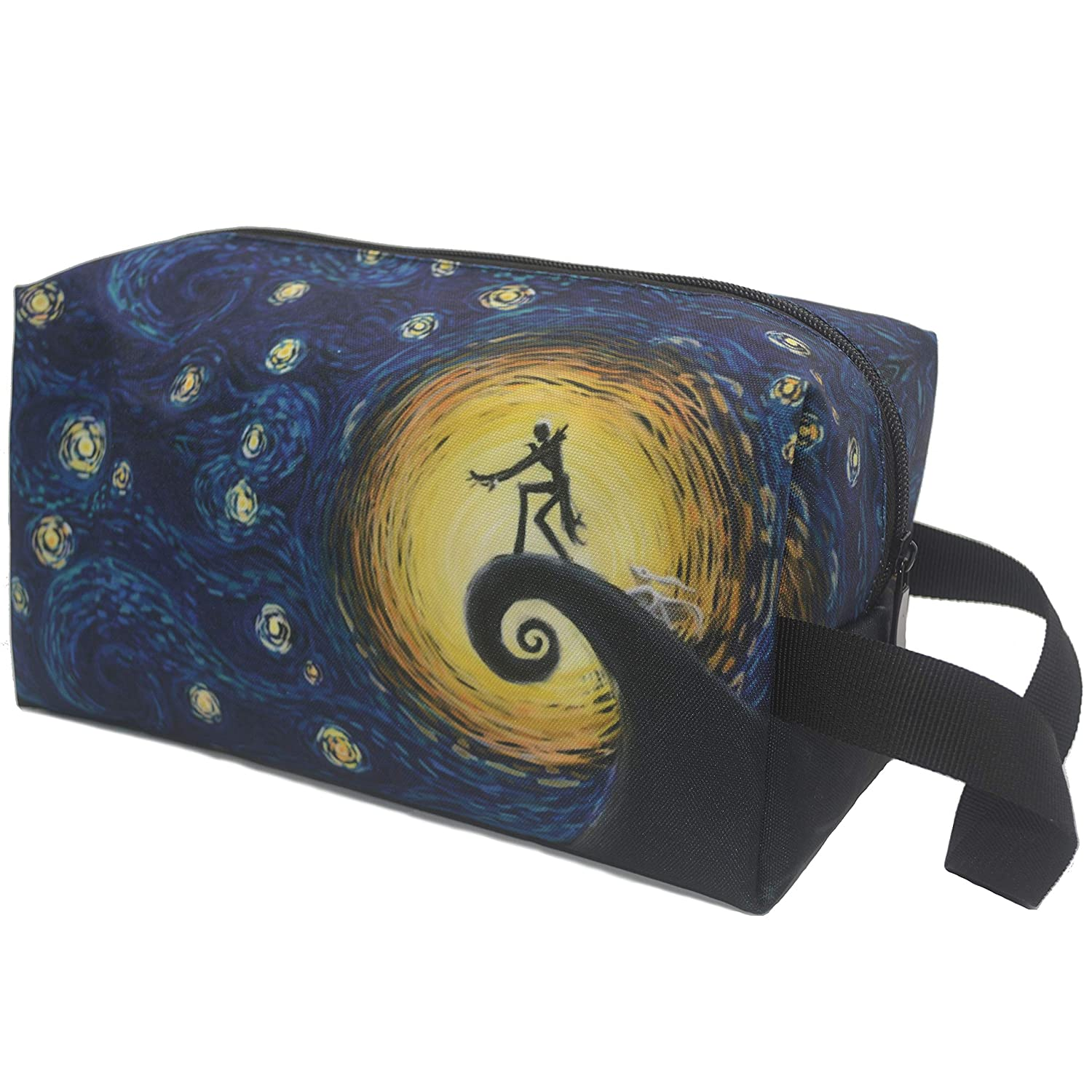 Makeup Bag Nightmare Before Christmas The Starry Night Travel Toiletry Bag Large Capacity Cosmetic Bag Pouch Portable Organizer for Women Men