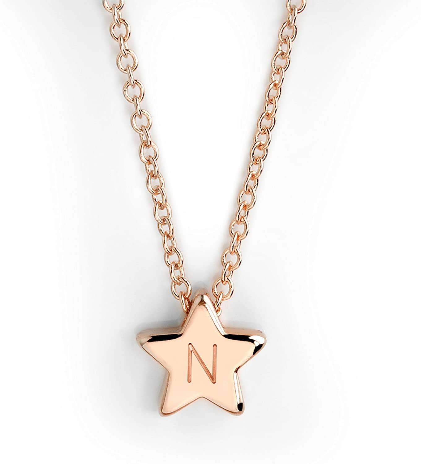 MignonandMignon Rosegold Star Necklace Personalized Teen Personalized Celestial Necklace FSN