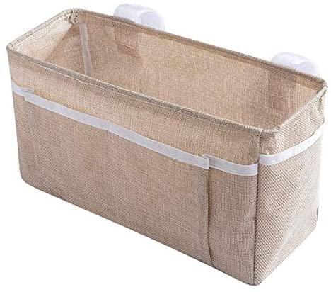 Bedside Caddy Hanging Bed Organizer Storage Bag Pocket for Bunk and Hospital Beds, College Dorm Rooms Baby Bed Rails (C-Style)