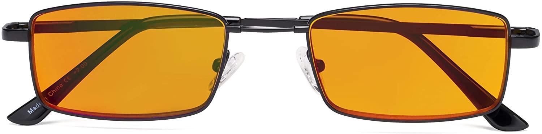 CessBlu Blue Blocking Glasses Anti Digital Glare UV Nighttime Computer Reading Eyeglasses for Men Women Bendable Bridge