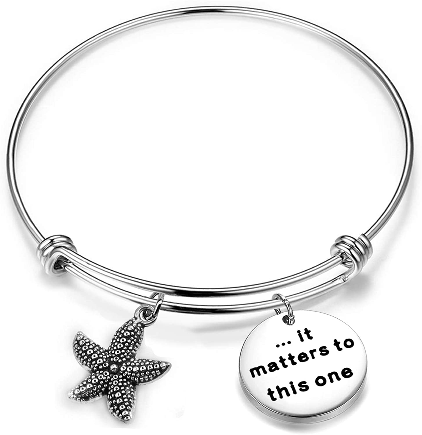 Zuo Bao Starfish Jewelry It Matters to This One Be Brave Be Yourself Inspirational Bracelet Gifts for Social Worker