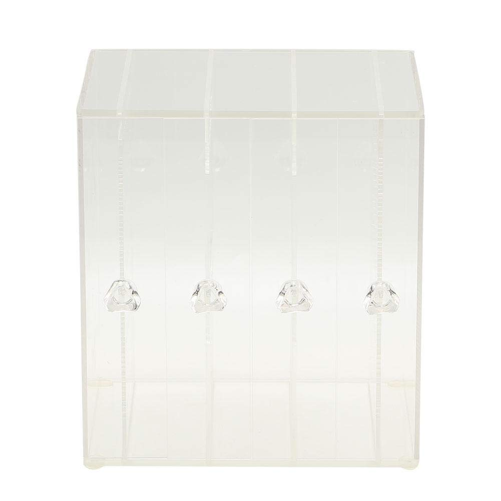 3 Layers Acrylic Cosmetic Storage Drawers,Jewelry Box Set Rack Display Stand Makeup Organizer for Necklace Bracelet Earrings Lipstick,Desktop Tool Transparent and Black (4#)