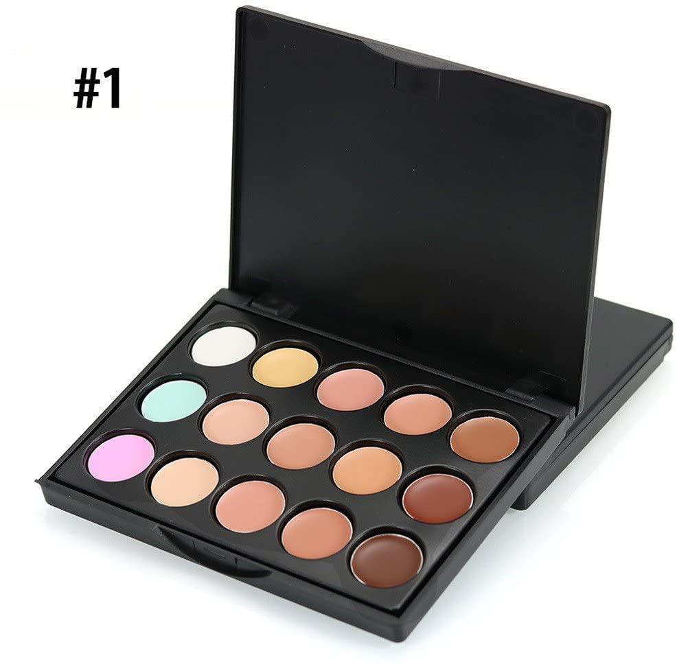 Kiorc Mini 15 Colors Face Concealer Camouflage Cream Contour Palette