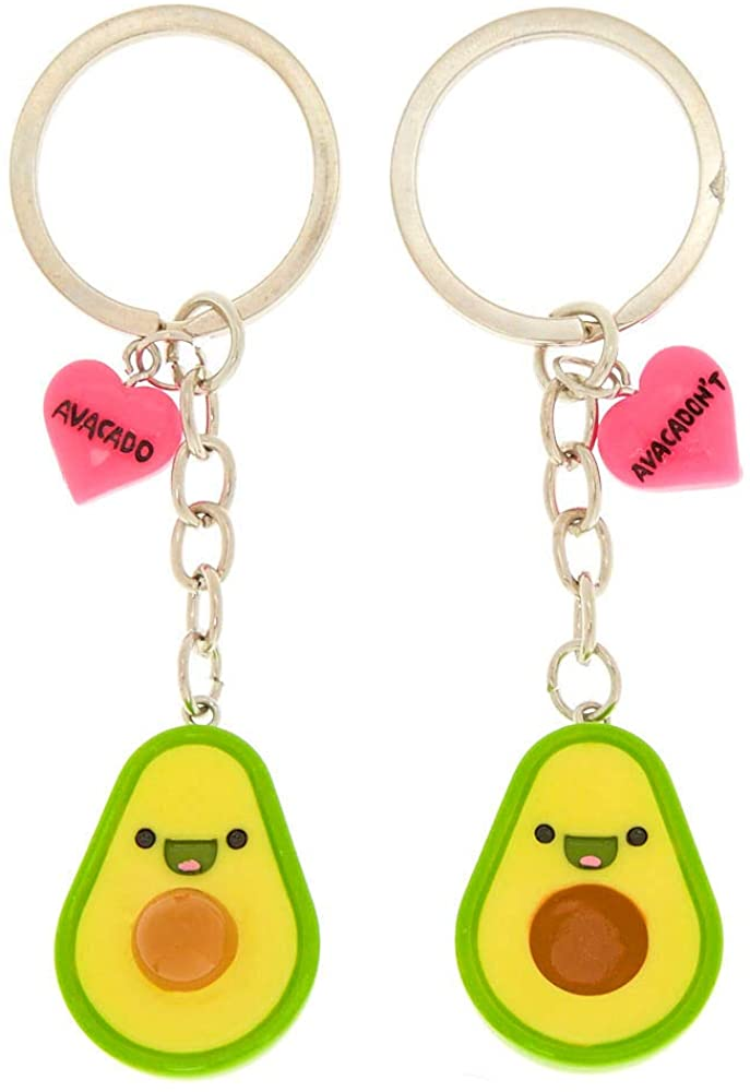 Claire's Matching Avocado Best Friends Keychain Set for Girls, Magnetic, 2 Pack
