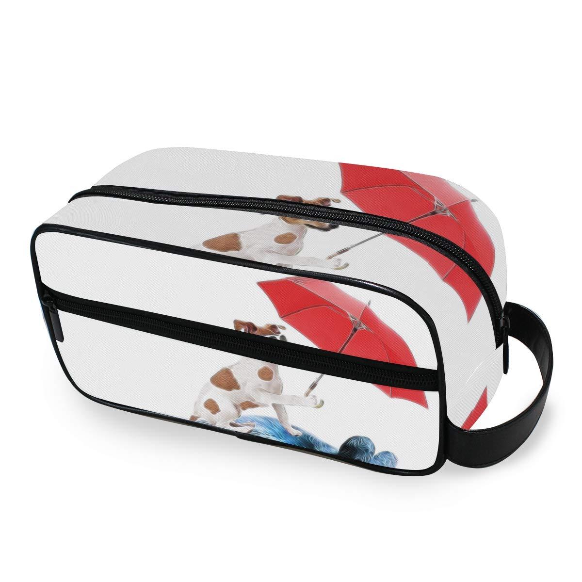 AKIOG Travel Cosmetic Bag Hanging Funny Dog Bear Bike Organizer Makeup Bags Professional Small Toiletry Bags Portable Storage Bag for Kids Women.