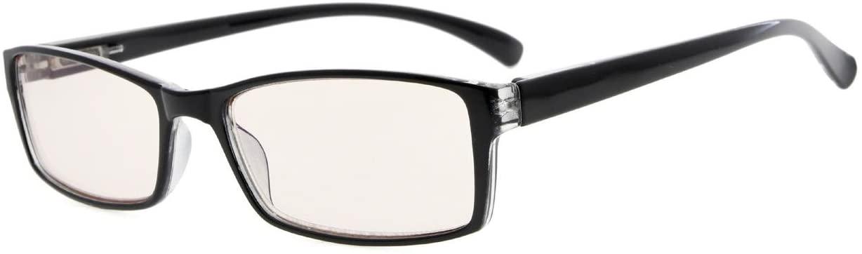 Eyekepper UV Protection Yellow Tinted Lens Reading Glasses(Black, 2.25)