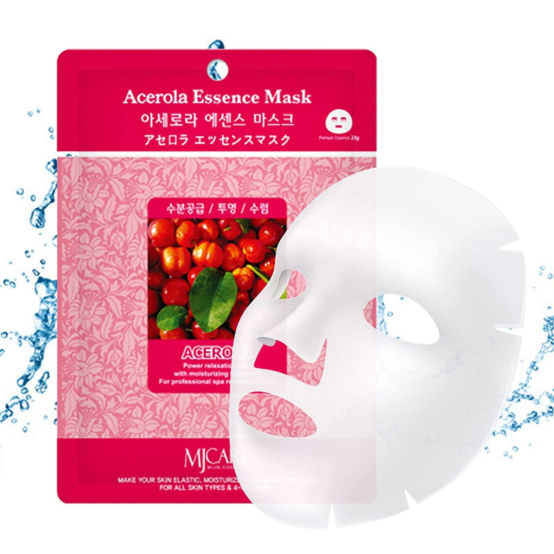 The Elixir Beauty MJ Care Mask Sheet 10 PCS Mask Pack Essence Facial Mask Korean Cosmetic(23g, Acerola)