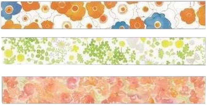 [Flowers-2] 3 Rolls Creative Washi Masking Tapes Washi Tapes Craft Tapes