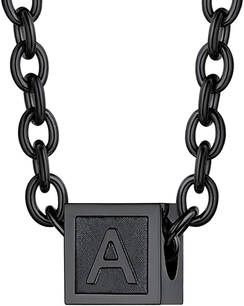 Custom4U Girls Tiny Initial Pendants Alphabet Letter Necklace Stylish Neck Chain Heart Pendant for Women Minimalist Jewelry Birthday Gift