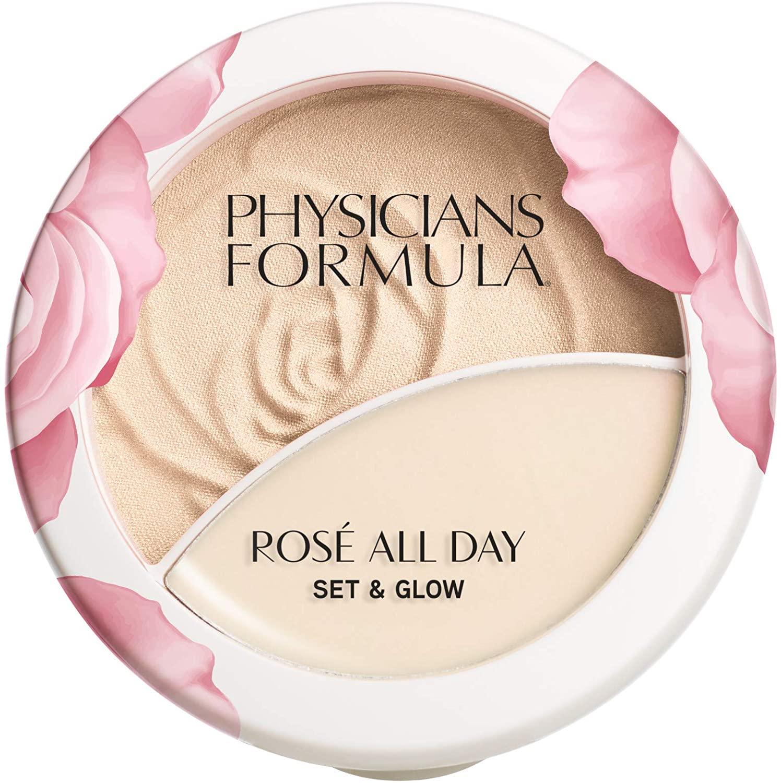 Physicians Formula Rosé All Day Set & Glow Powder & Highlighter Balm, Luminous Light, 0.36 Ounce