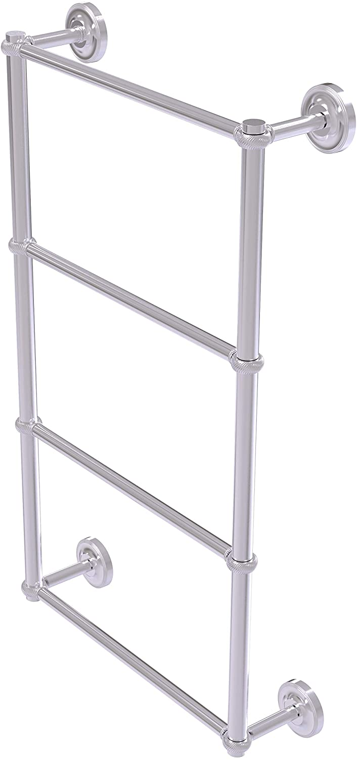 Allied Brass PR-28T-30 Prestige Regal Collection 4 Tier 30 Inch Ladder Twisted Detail Towel Bar, Satin Chrome