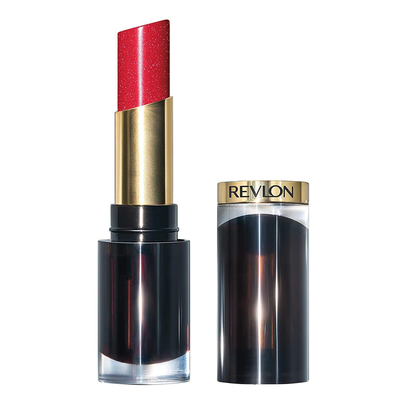 Revlon Super Lustrous Glass Shine Lipstick, Moisturizing Lipstick with Aloe and Rose Quartz in Red, 024 Shine Stealer, 0.15 oz