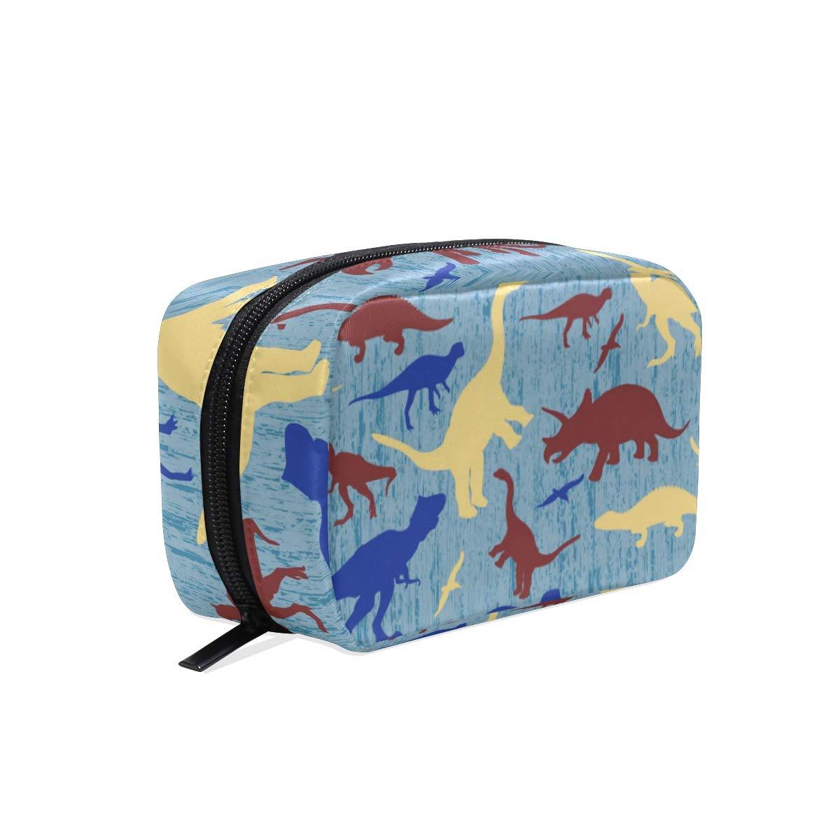 Women's Makeup Cosmetic Bag Silhouettes Of Dinosaur Makeup Pouch for Travel Cosmetic Pouch Purse(904h)