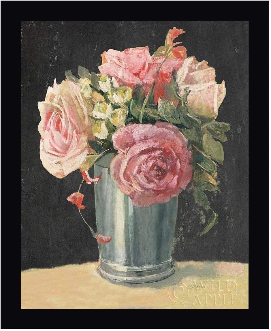 Silver Vase II on Black by Carol Rowan 13