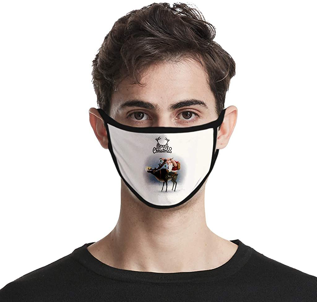 1PC Christmas Funny Santa Printed Adults Cycling Reusable Breathable Fashion Windproof Washable Cotton Cloth Face_Mask