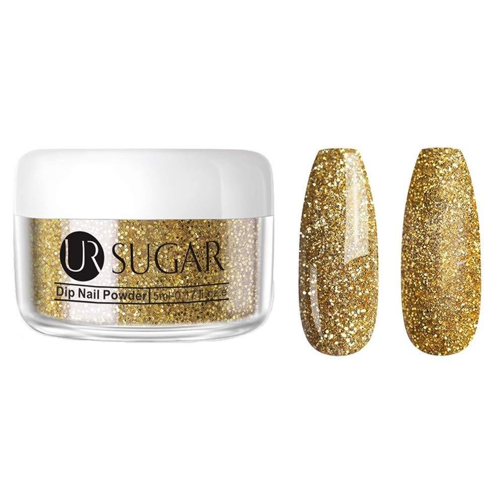 30ml Dipping Nail Powder,Gradient Clear Coat Dip Nail Glitter, Natural Dry For Nail Nail Art Decoration (5ML-43)