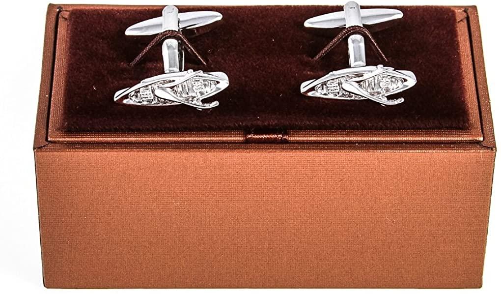 MRCUFF Rowboat Cufflinks Pair Cufflinks in a Presentation Gift Box & Polishing Cloth