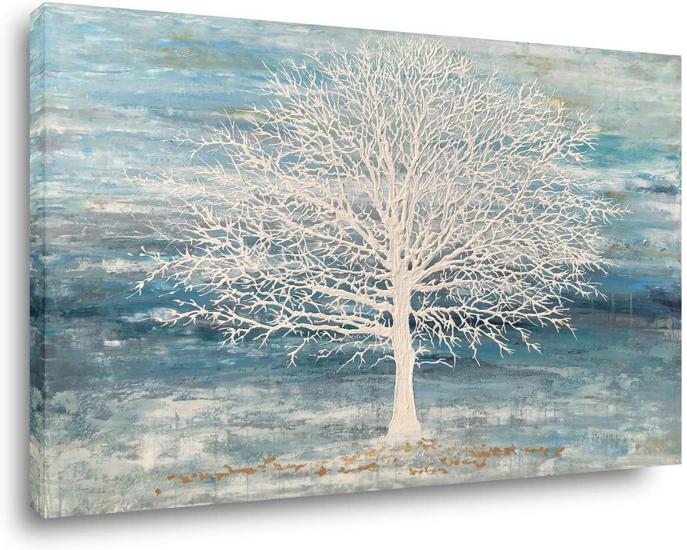 Yihui Arts Abstract Landscape Canvas Art Modern Paintings for Wall Decor Trees Print Artwork