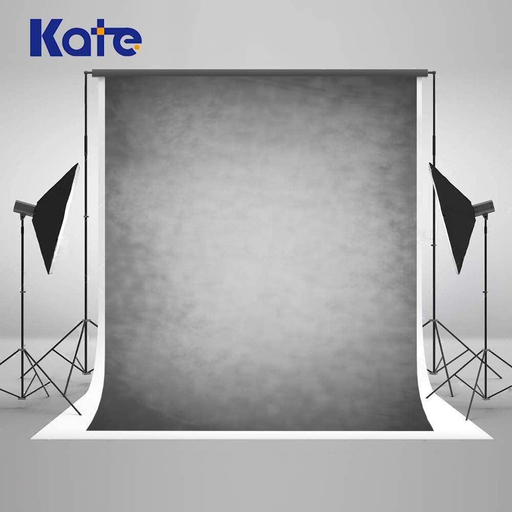 Kate 6.5×10ft Smoky Light Grey Portrait Backdrop Abstract Microfiber Gray Backdrop Background for Professional Headshot Portrait Fabric Photo Studio Props