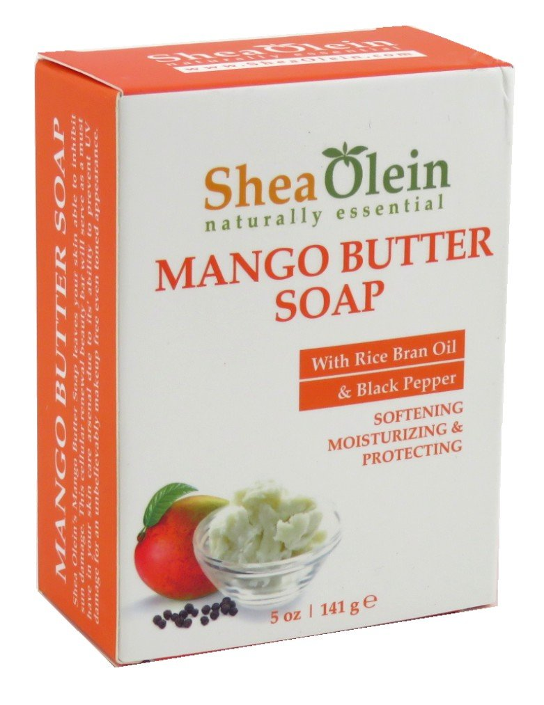 SheaOlein- Mango Butter Soap w/Rice bran Oil & Rosemary Extract by Shea Olien 5 oz Bar (12 Bars)