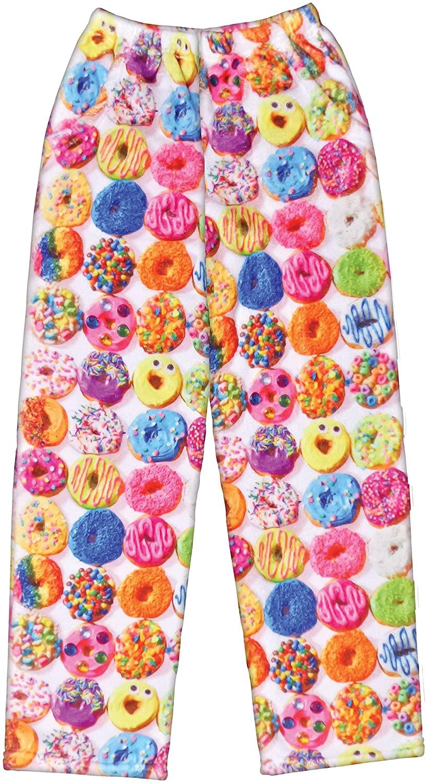iscream Big Girls Silky Soft Plush Fleece Pants - Snacks & Sweets Collection