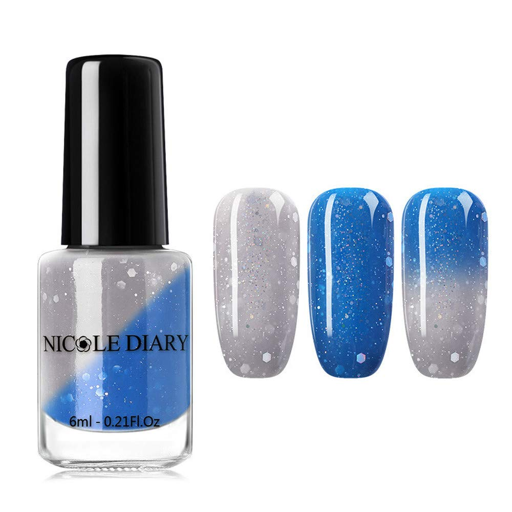 Nail Polish Thermal Glitter Chameleon Temperature Color Changing Varnish Gradient Nail varnish (10)