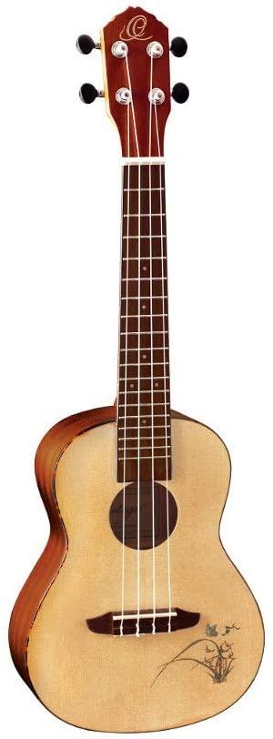 Ortega Guitars Bonfire Series, 4-String Ukulele, Right (RU5)