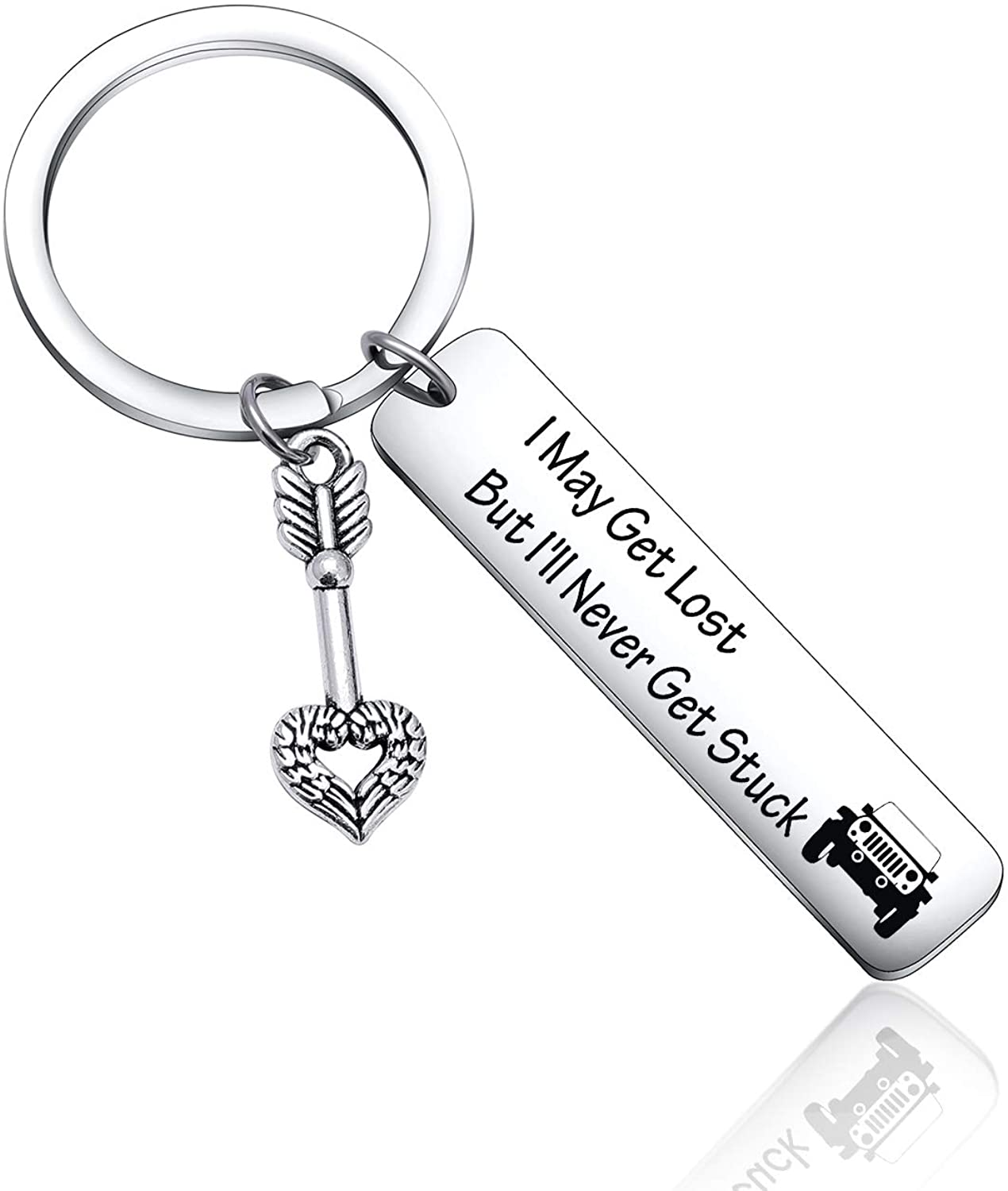Jeep Driver I May Get Lost But I'll Never Get Stuck Keychain Gift for Jeep Lover,Driver Friends
