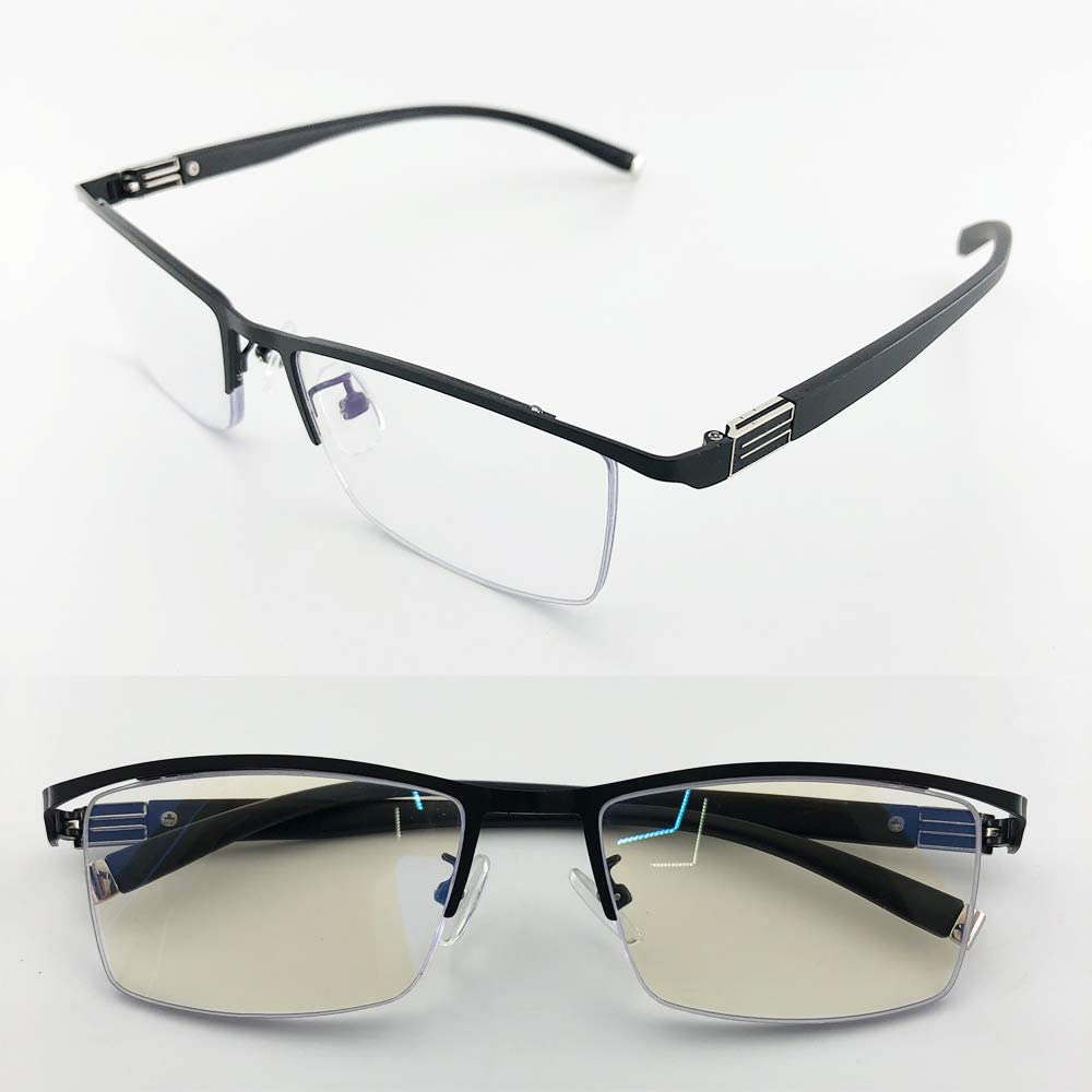 Reading Glasses Have a Stylish Look and Crystal Clear Vision,Comfort Spring Arms & bluelight blocker +1.0