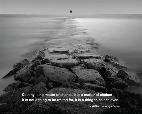 Destiny Ocean Stones Nature Scenic Motivational Poster 16 x 20 inches