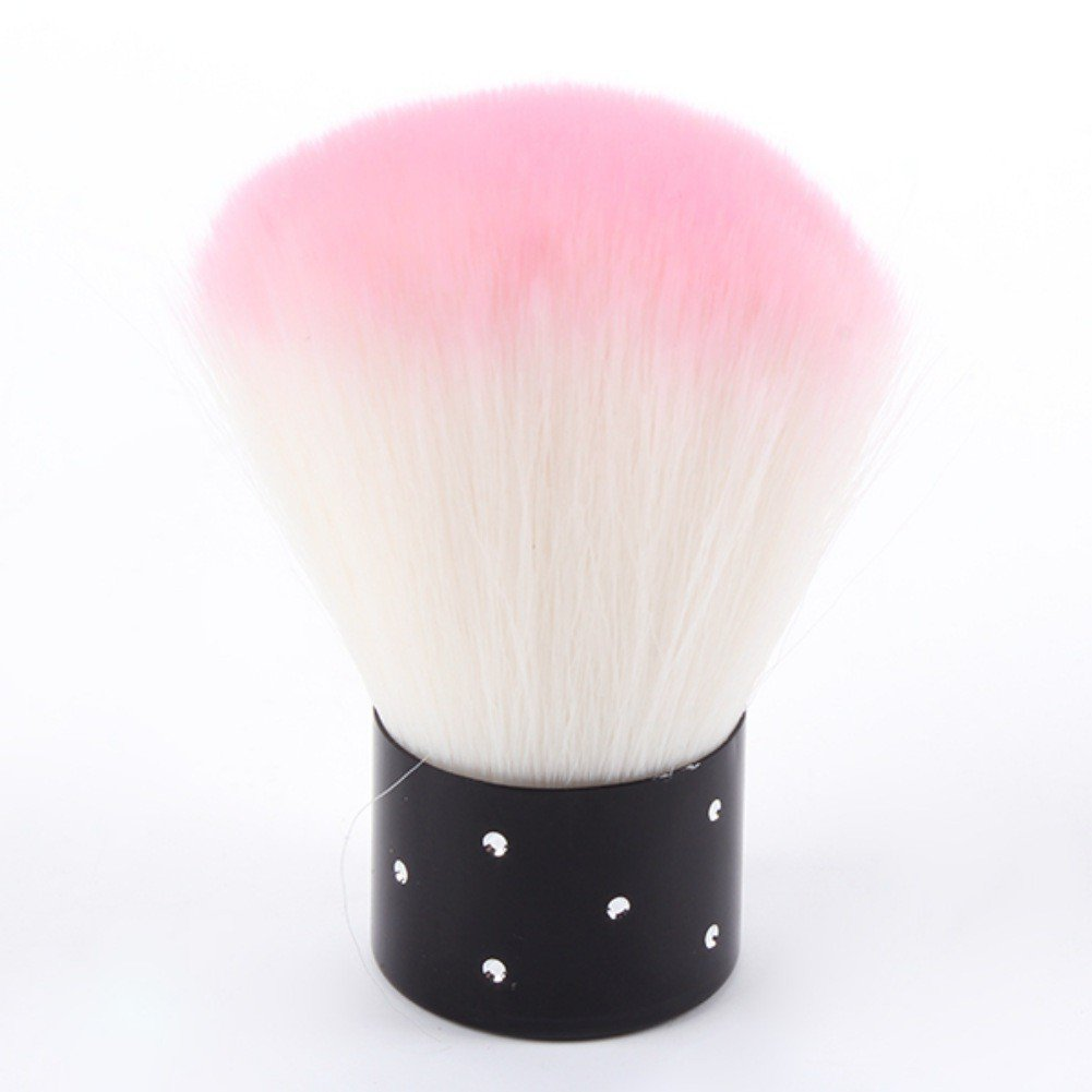 Hanyia Soft Round Nail Brushes Remove Dust Powder Makeup Nail Cleaning Brush