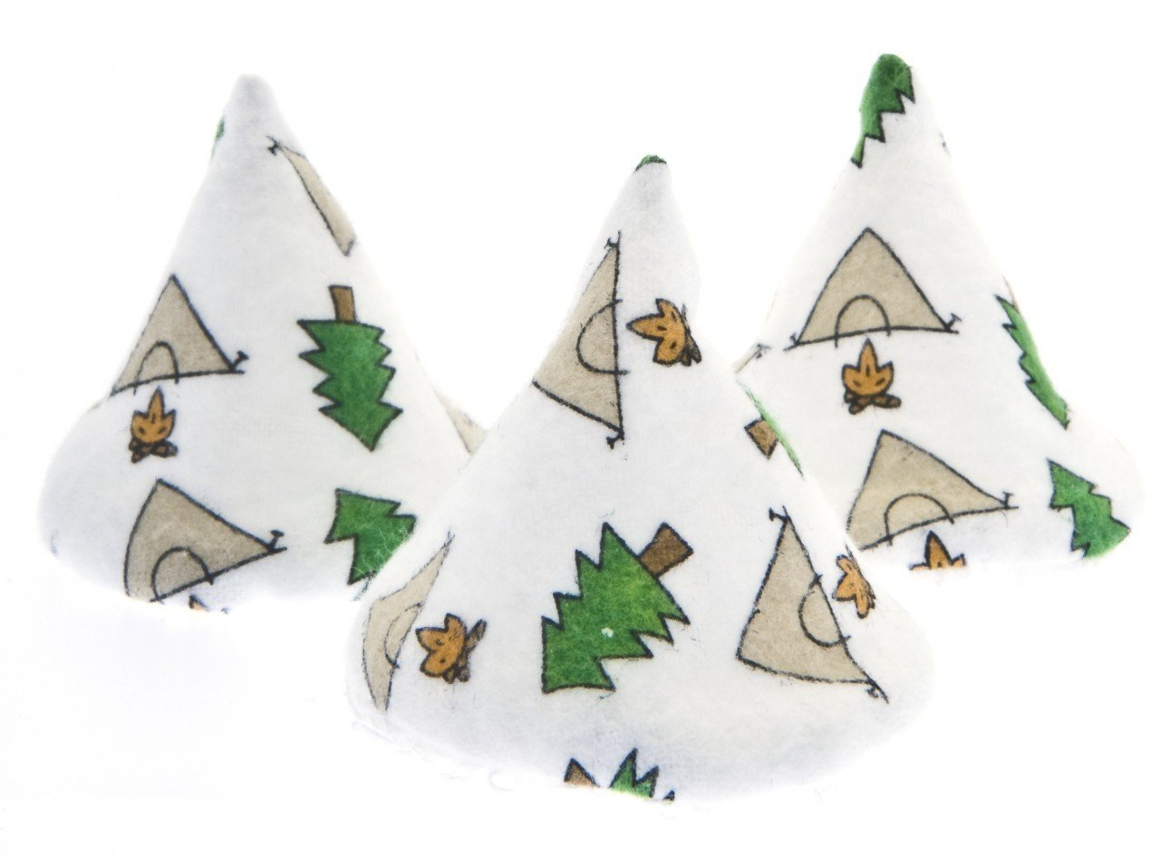 (1) Package of White Camping Pee Pee Tee Pees in Laundry Bag (Set of 5)