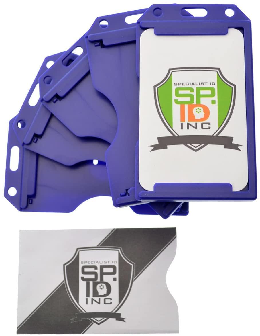 Blue 2-Sided Rigid Vertical Multi-Card Holder SPID-0382 by Specialist ID