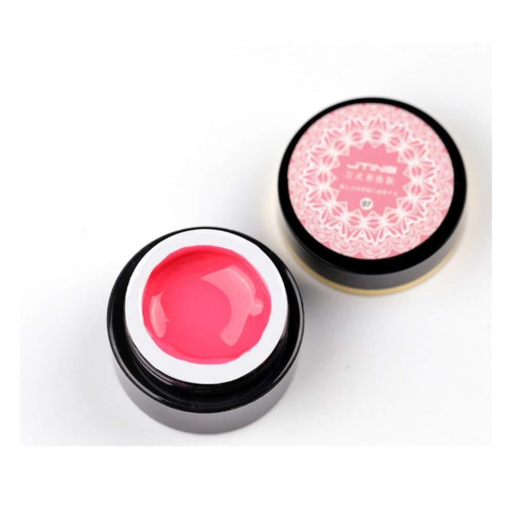 Buqikma 3D Gel Art Paint Gel Nail Polish Painting Starter Kit for Nails Perfect for Nail Salon and Nail Art Design (Pink)