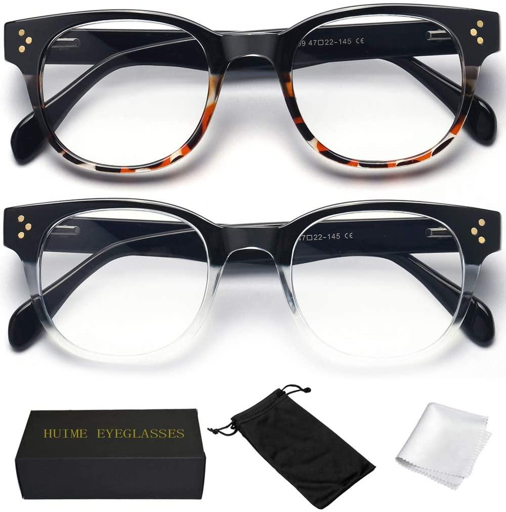 Reading Glasses Blue Light Blocking Readers - 2 Pack Computer Eyeglasses +2.0 Anti Uv Eye Strain Migraine Lens Readers for Men and Women