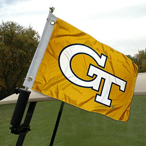 College Flags & Banners Co. Georgia Tech Golf Cart and Boat Flag