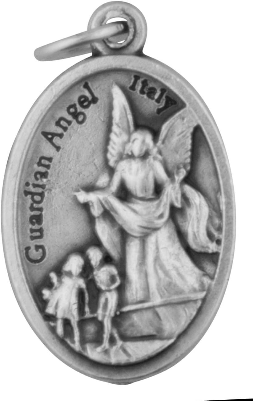 Small Catholic Saint Medal - Bulk Pack of 10 (Guardian Angel)