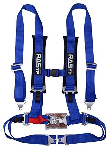 RASTP 4 Point Safety Harness Set with Ultra Comfort Heavy Duty Shoulder Pads,Blue(Pack of 1)