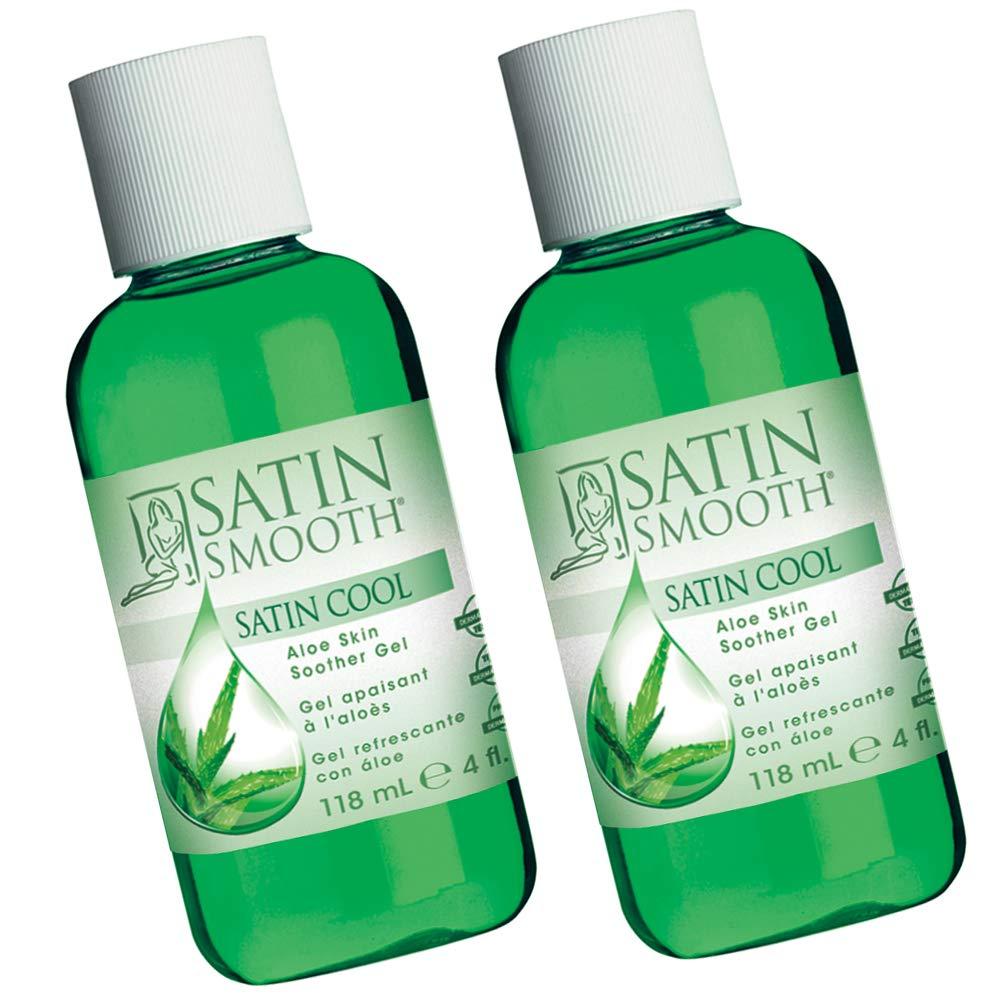 Satin Smooth Satin Cool Aloe Vera Skin Soother Gel, 4 fl oz, 2-Pack
