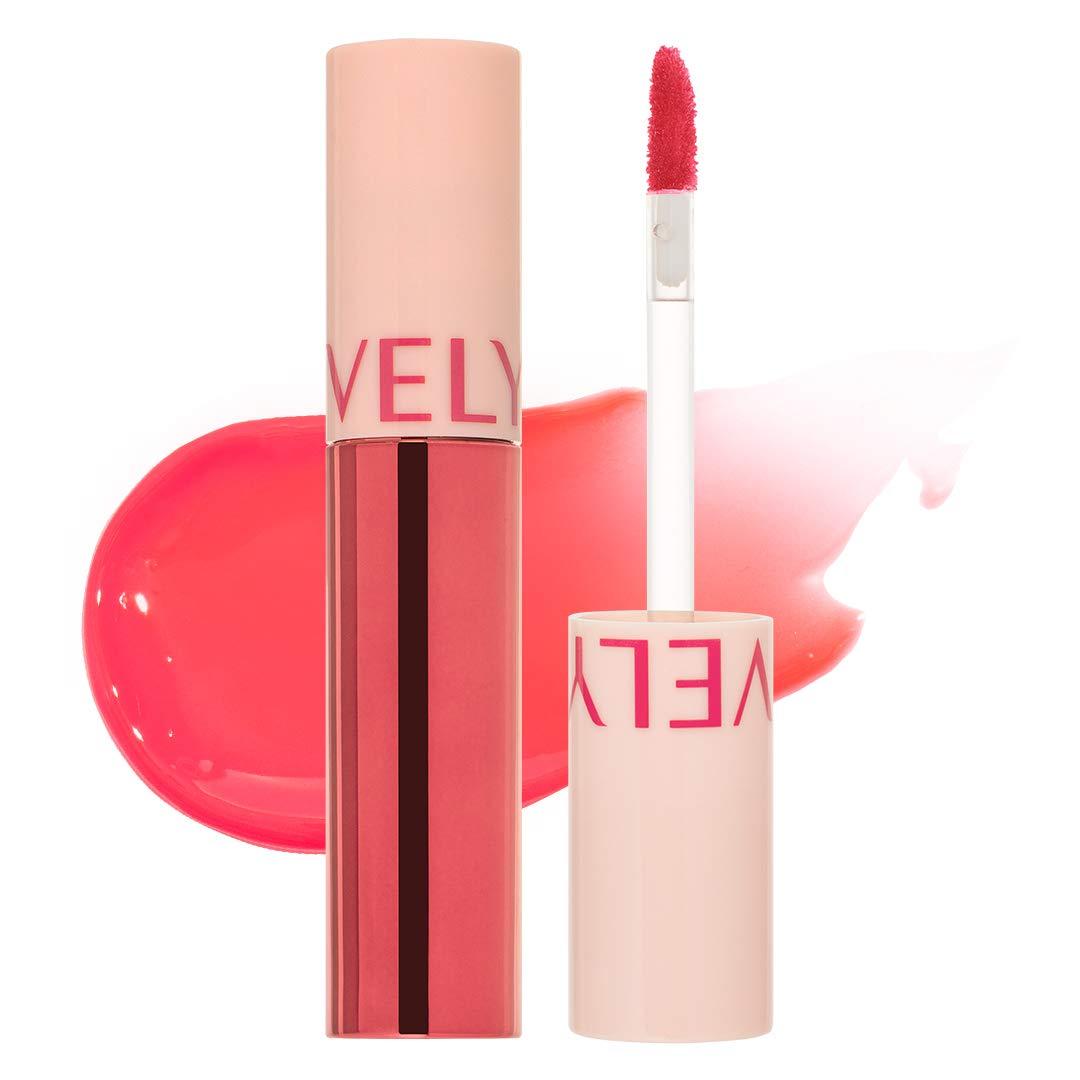 VELY VELY Honey Glow Lip Tint - Vivid Bright Color Moisturizing Lightweight Glossy Lip Stain (0.13 fl oz. / 3.8g) #Lady Pink