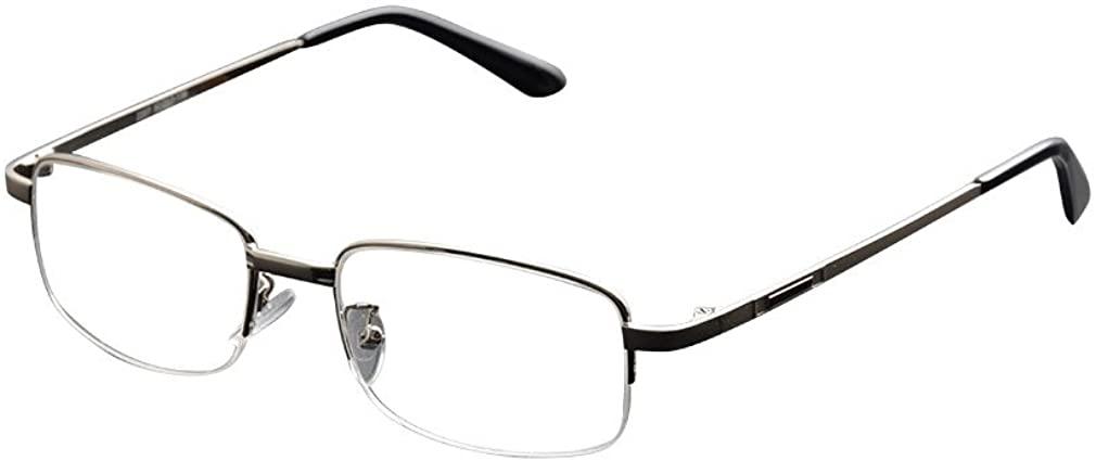 De Ding Metal Half Rim Bifocal Reading Glasses