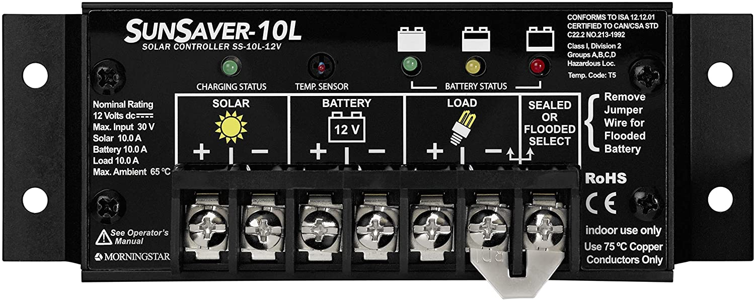 Morningstar SunSaver Charge Controller | World Leading Solar Controllers & Inverters