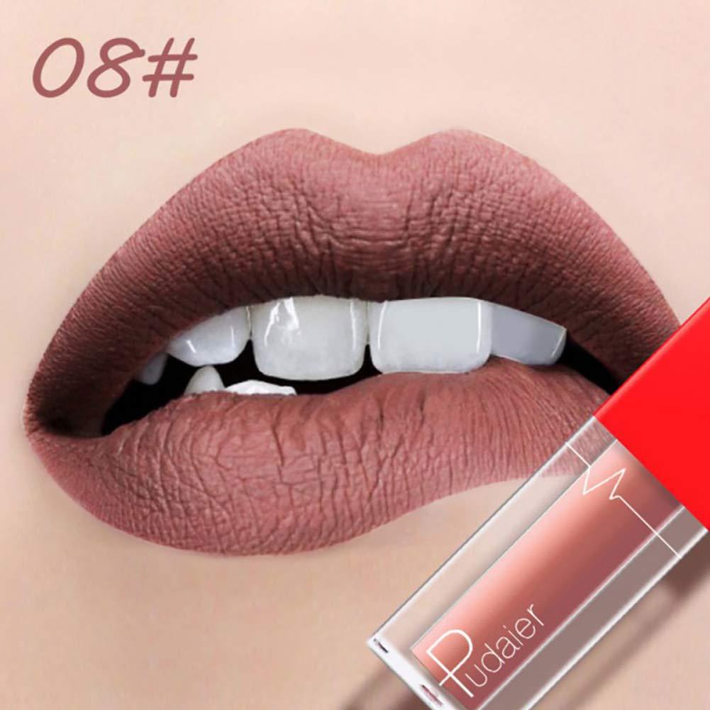 ROPALIA Non-stick cup nude matte lipstick Matte does not fade lip gloss Waterproof liquid lipstick