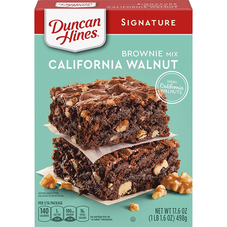 Duncan Hines Signature California Walnut Brownie Mix, 17.6 OZ