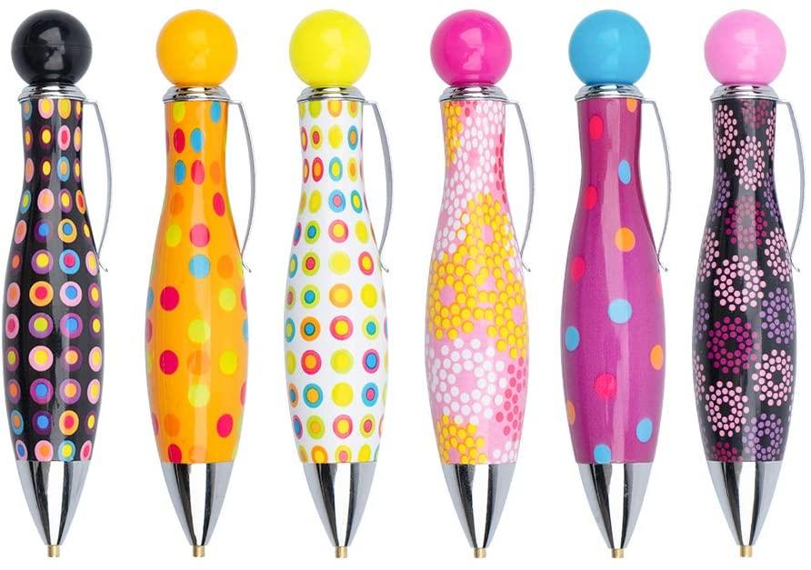 Lanrena 6 Pcs 5D DIY Diamond Painting Drill Pen Tools Cute Bowling Design Drill Pen Set